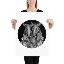 Load image into Gallery viewer, Tapir Family | Illustration | Poster-posters-18×24-Eggenland