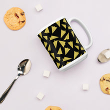 Load image into Gallery viewer, Paper Planes Pattern | Dark Yellow | Mug-mugs-Eggenland