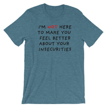 Load image into Gallery viewer, Insecurities | Short-Sleeve Unisex T-Shirt-t-shirts-Heather Deep Teal-S-Eggenland