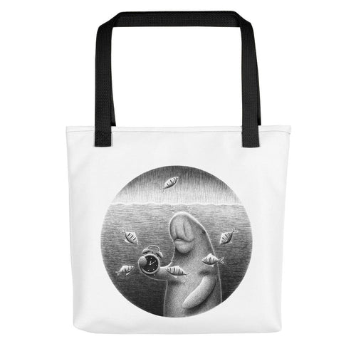 Dugongs Can Hold Their Breath For 6 Minutes | Tote Bag-tote bags-Black-Eggenland