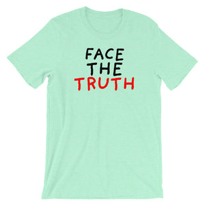Face the Truth | Short-Sleeve Unisex T-Shirt-t-shirts-Heather Mint-S-Eggenland