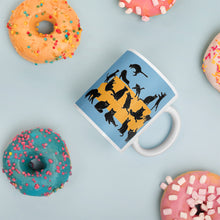 Load image into Gallery viewer, Black Cats Party | Blue | Mug-mugs-Eggenland