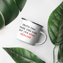 Load image into Gallery viewer, Truth Is Healing | Enamel Mug-enamel mugs-Eggenland