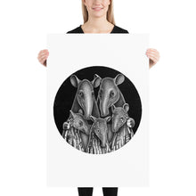 Load image into Gallery viewer, Tapir Family | Illustration | Poster-posters-24×36-Eggenland