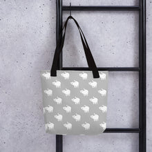 Load image into Gallery viewer, Cute Cat Pattern | Light Grey and White | Tote Bag-tote bags-Eggenland