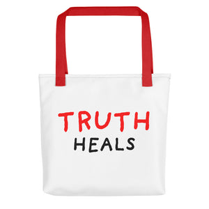 Truth Heals | Tote Bag-tote bags-Red-Eggenland