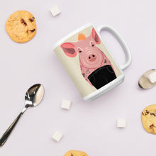 Load image into Gallery viewer, Cool Pig With Tattoos | Beige | Mug-mugs-Eggenland