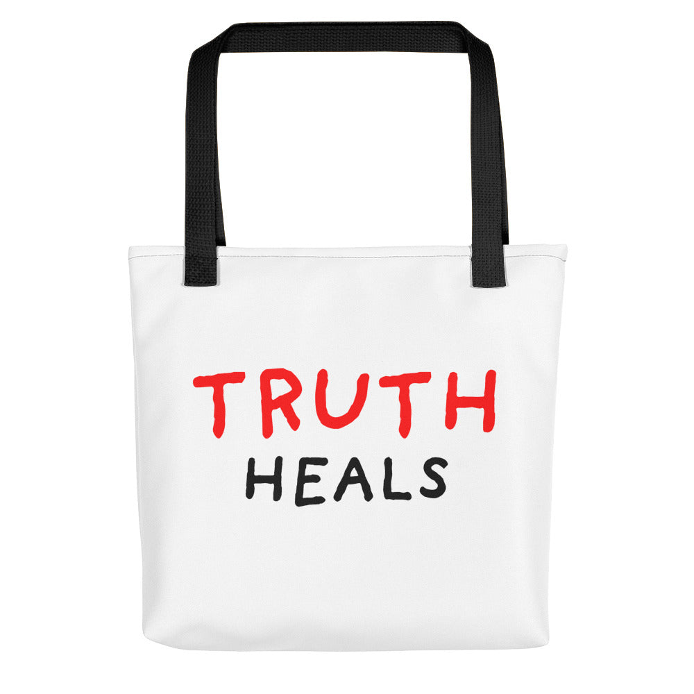 Truth Heals | Tote Bag-tote bags-Black-Eggenland