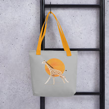 Load image into Gallery viewer, Giraffe and Sun | Light Grey | Tote Bag-tote bags-Eggenland