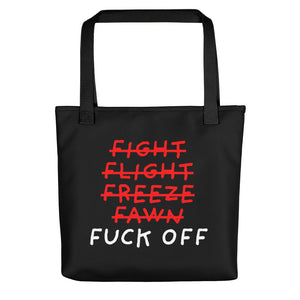 Five F of Fear | Black | Tote Bag-tote bags-Black-Eggenland