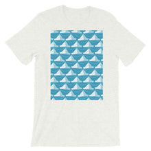 Load image into Gallery viewer, Paper Hats Pattern | Blue | Short-Sleeve Unisex T-Shirt-t-shirts-Ash-S-Eggenland
