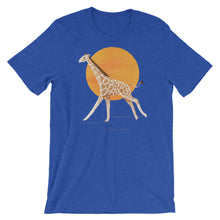 Load image into Gallery viewer, Giraffe and Sun | Short-Sleeve Unisex T-Shirt-t-shirts-Heather True Royal-S-Eggenland