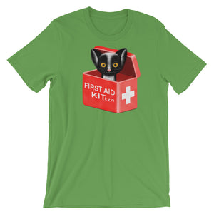 First Aid Kitten | Short-Sleeve Unisex T-Shirt-t-shirts-Leaf-S-Eggenland