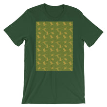 Load image into Gallery viewer, Flying Birds Pattern | Green | Short-Sleeve Unisex T-Shirt-t-shirts-Forest-S-Eggenland
