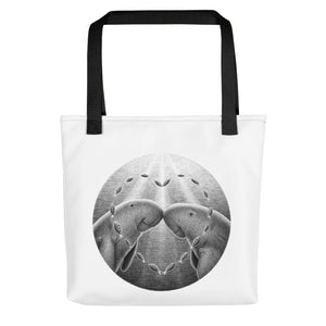 Dugongs Have One Partner | Tote Bag-tote bags-Black-Eggenland