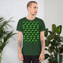 Load image into Gallery viewer, Paper Hats Pattern | Green | Short-Sleeve Unisex T-Shirt-t-shirts-Eggenland