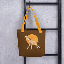 Load image into Gallery viewer, Giraffe and Sun | Brown | Tote Bag-tote bags-Eggenland