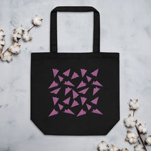 Load image into Gallery viewer, Paper Planes Pattern | Pink | Eco Tote Bag-tote bags-Black-Eggenland