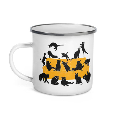 Cats Party | Enamel Mug-enamel mugs-Eggenland