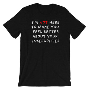 Insecurities | Short-Sleeve Unisex T-Shirt-t-shirts-Black Heather-S-Eggenland