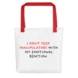Don't Feed Manipulators | Tote Bag-tote bags-Red-Eggenland