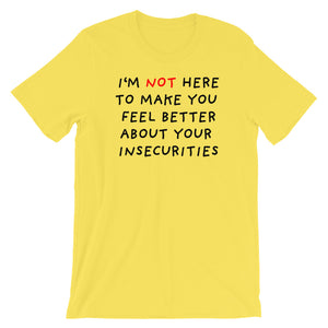 Insecurities | Short-Sleeve Unisex T-Shirt-t-shirts-Yellow-S-Eggenland