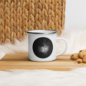 Tapirs Are Night Creatures | Enamel Mug-enamel mugs-Eggenland