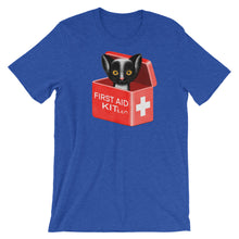 Load image into Gallery viewer, First Aid Kitten | Short-Sleeve Unisex T-Shirt-t-shirts-Heather True Royal-S-Eggenland