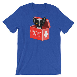First Aid Kitten | Short-Sleeve Unisex T-Shirt-t-shirts-Heather True Royal-S-Eggenland