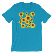 Load image into Gallery viewer, Blooming Flowers | Short-Sleeve Unisex T-Shirt-t-shirts-Aqua-S-Eggenland