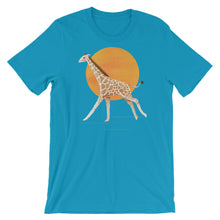 Load image into Gallery viewer, Giraffe and Sun | Short-Sleeve Unisex T-Shirt-t-shirts-Aqua-S-Eggenland
