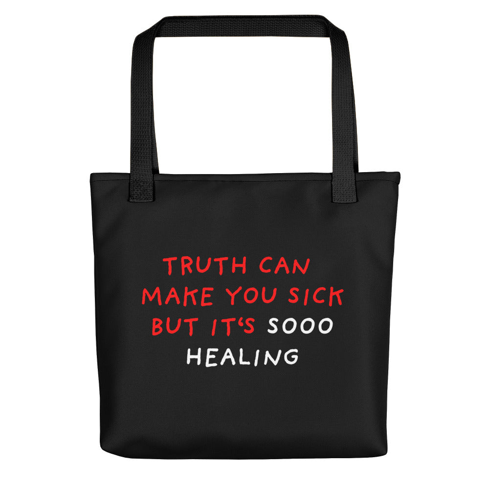 Truth Is Healing | Black | Tote Bag-tote bags-Black-Eggenland