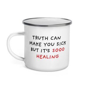Truth Is Healing | Enamel Mug-enamel mugs-Eggenland