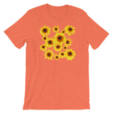 Load image into Gallery viewer, Blooming Flowers | Short-Sleeve Unisex T-Shirt-t-shirts-Heather Orange-S-Eggenland