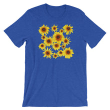 Load image into Gallery viewer, Blooming Flowers | Short-Sleeve Unisex T-Shirt-t-shirts-Heather True Royal-S-Eggenland