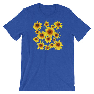 Blooming Flowers | Short-Sleeve Unisex T-Shirt-t-shirts-Heather True Royal-S-Eggenland