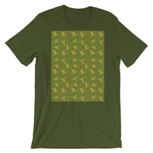 Load image into Gallery viewer, Flying Birds Pattern | Green | Short-Sleeve Unisex T-Shirt-t-shirts-Olive-S-Eggenland