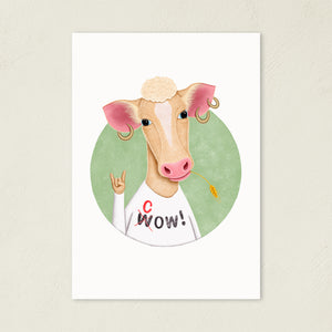 Wow Cow | Illustration | Art Print-art print-A4-Eggenland