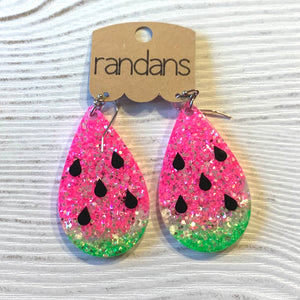 Watermelon Large Frameless Dangle