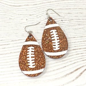 Football Frameless Dangle Earrings