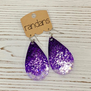 Purple Ombre Large Frameless Dangle