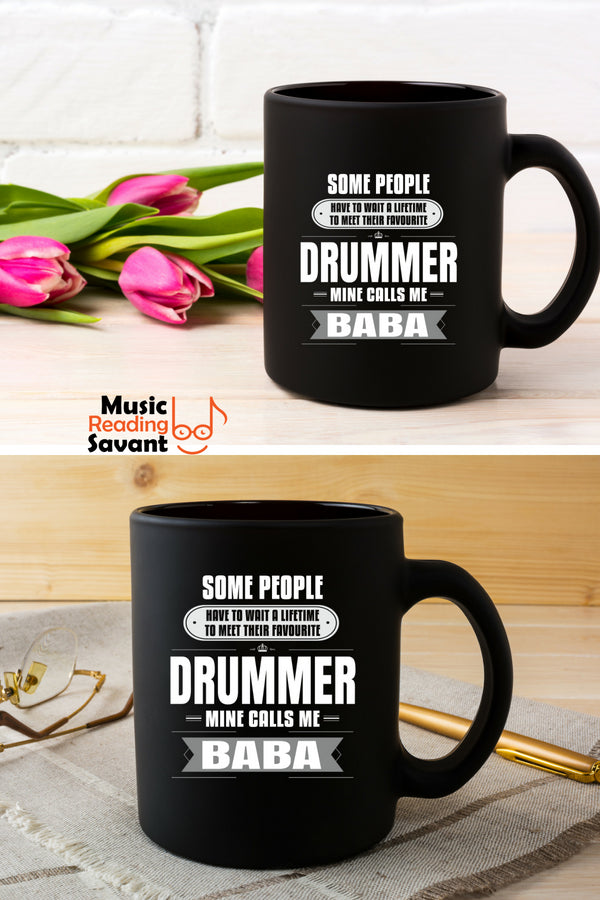 Drummer Coffee Mug Black