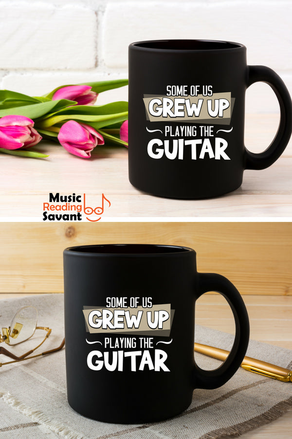 Guitar Grew Up Coffee Mug Black