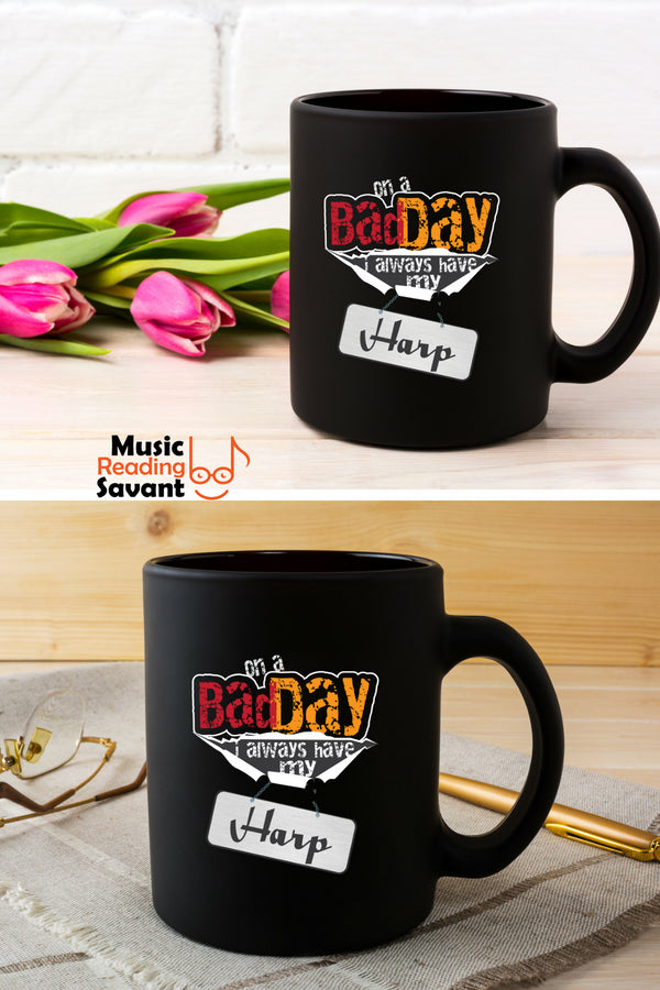 Harp Bad Day Coffee Mug Black