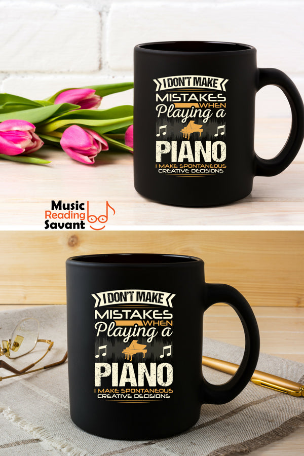 Piano Mistakes Coffee Mug Black