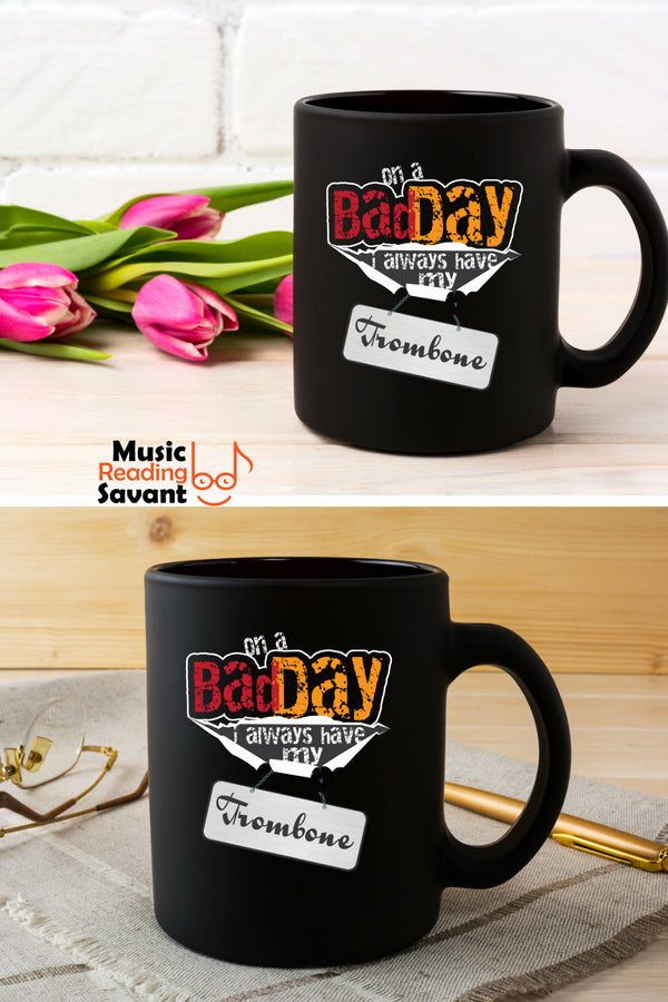 Trombone Bad Day Coffee Mug Black