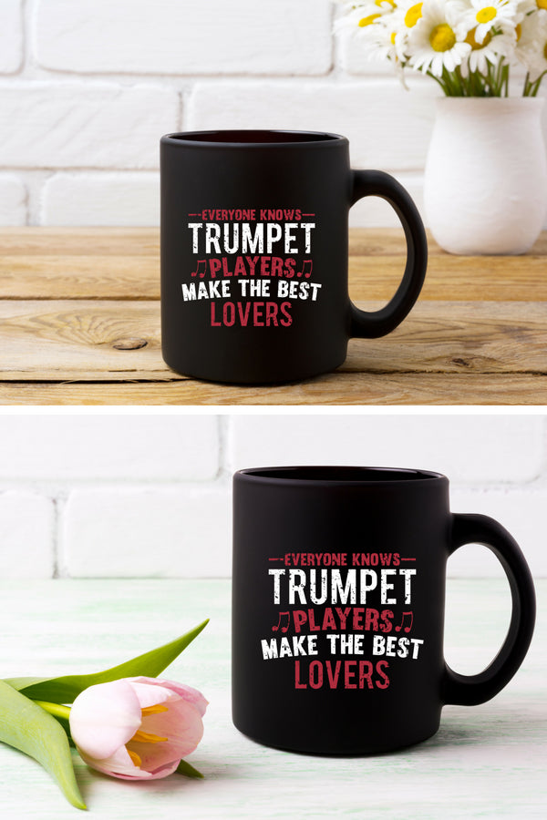 Trumpet Players Lovers Coffee Mug Black