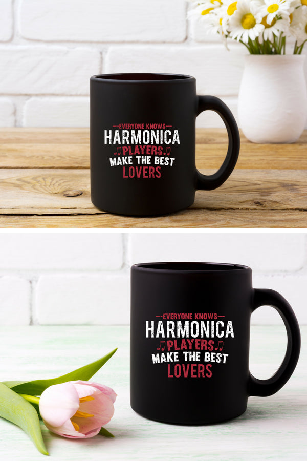Harmonica Players Lovers Coffee Mug Black