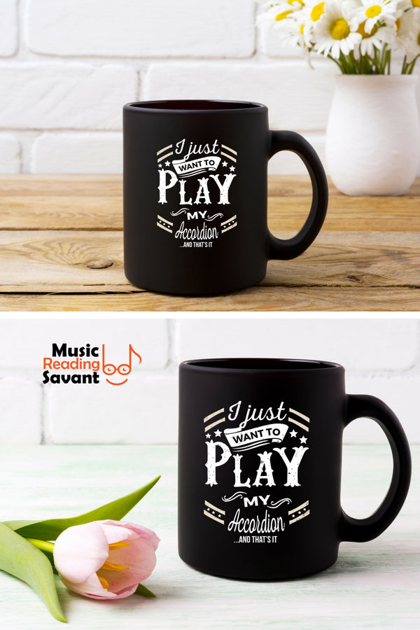 Accordion Play Coffee Mug Black
