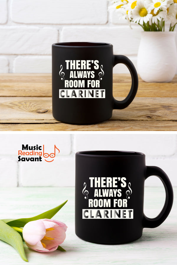 Clarinet Room Coffee Mug Black